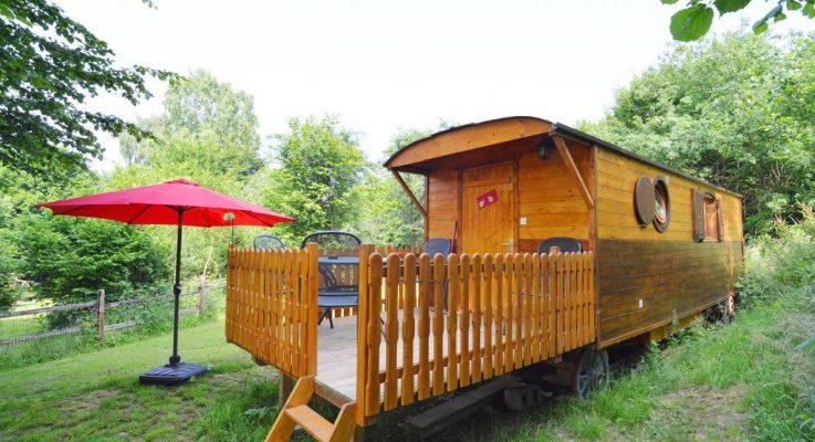 Huifkar in de Ardennen