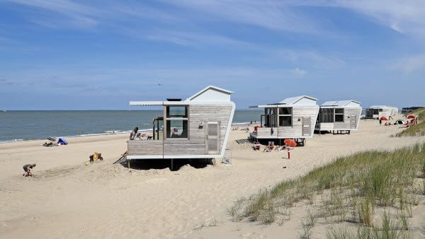 Strandhuisje-exterieur