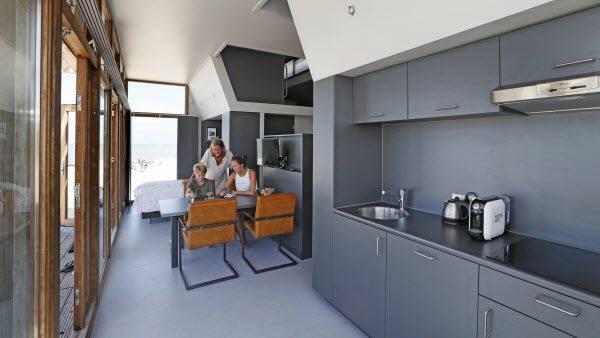 Strandhuisje-interieur