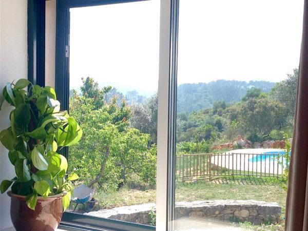 Uitzicht vanuit de cottage