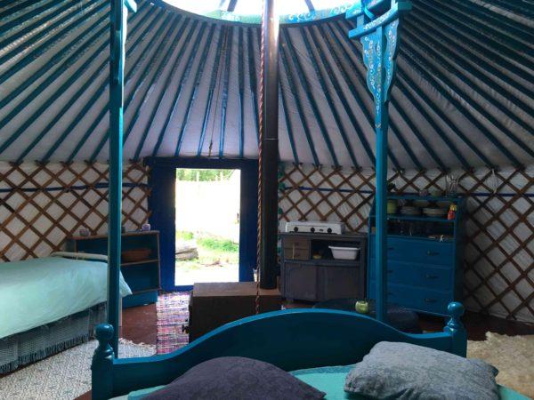 Kleurrijke yurt