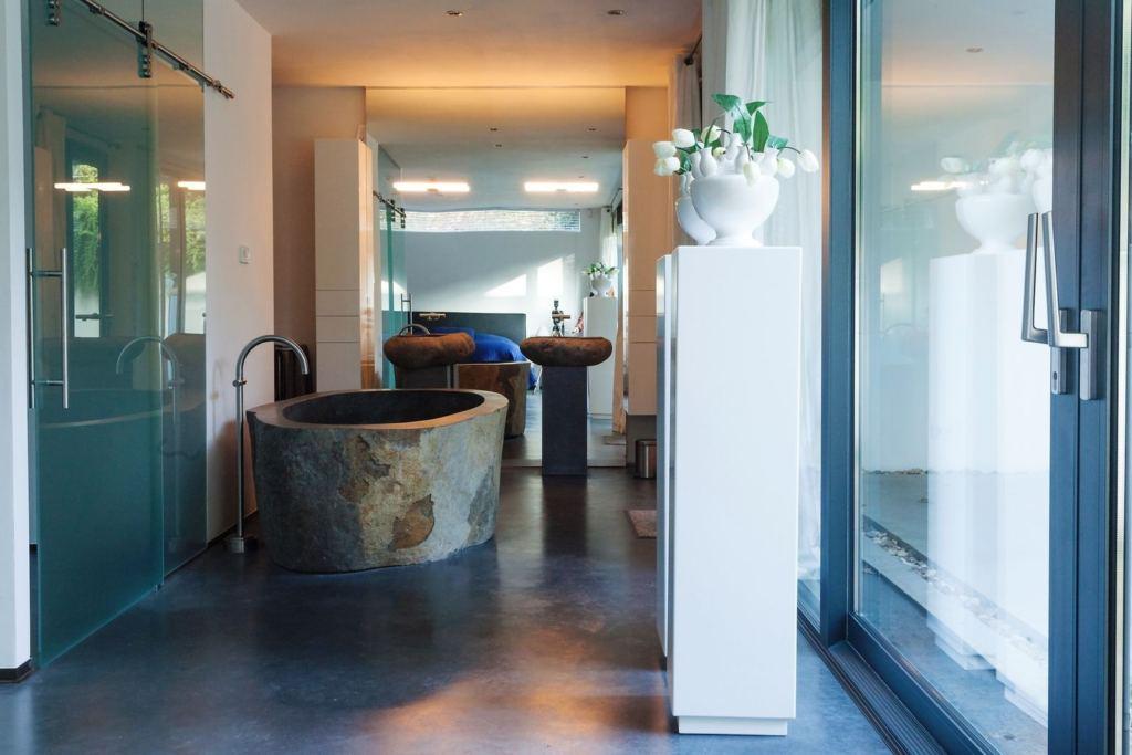 Luxe Villa Badkamer : Luxe villa amphora privé zwembad in plakias kreta huren micazu