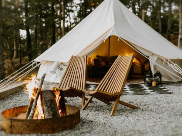 luxe bell tent in de natuur glamping nederland